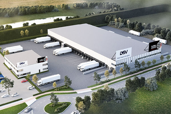 Logistiek centrum op industriezone LAR-Zuid in Menen